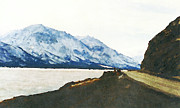 Lakes Digital Art - Muncho Pass British Columbia Canada by David G Paul
