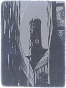 Old Digital Art Metal Prints - Munich Frauenkirche Metal Print by Irina  March