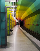 U-bahn Framed Prints - Munich Subway No.2 Framed Print by Wyn Blight-Clark