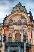 Prague Digital Art Prints - Municipal House-Prague Print by John Galbo