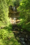 Michigan Waterfalls Prints - Munising Falls Print by Michael Peychich