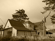 Haunted House Photos - Munsters Or Adams Family by Kym Backland