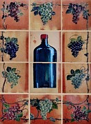 Wine Ceramics Framed Prints - Mural 1 Framed Print by Andrew Drozdowicz