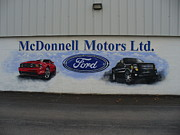 Al  Brown - Mural for Ford Dealer
