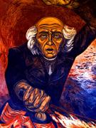 Independence Prints - Mural Miguel Hidalgo by Orozco 2 Print by Olden Mexico