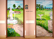 Donna La Placa - Mural on Elevator Doors