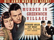 Wray Prints - Murder In Greenwich Village, Fay Wray Print by Everett