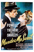 Film Noir Framed Prints - Murder, My Sweet, Dick Powell, Claire Framed Print by Everett