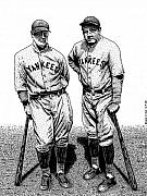 Yankees Drawings - Murderers Row by Bruce Kay