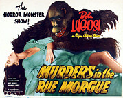 Horror Movies Posters - Murders In The Rue Morgue, The Girl Poster by Everett