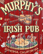 Vintage Sign Framed Prints - Murphys Irish Pub - Sonoma California - 5D19290 Framed Print by Wingsdomain Art and Photography