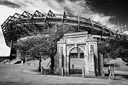 Rugby Union Framed Prints - Murrayfield Stadium With War Memorial Arch Edinburgh Scotland Framed Print by Joe Fox