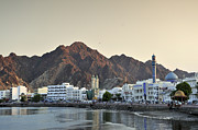Oman Prints - Muscat At Sunset Oman Print by Marco Brivio