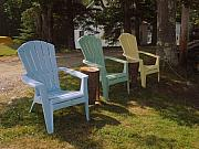 Laura Palmer Art - Muscial Chairs by Laura Palmer