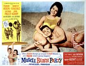 Ad Art Framed Prints - Muscle Beach Party, Poster Ad, Frankie Framed Print by Everett