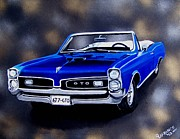 Goat Painting Originals - Muscle Car 6T7-GTO by Debbie LaFrance