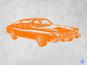 Old Car Art Posters - Muscle car Poster by Irina  March