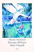 Mourlot Paintings - Musee National Message Biblique by Marc Chagall