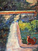 Seurat Originals - Museum Cat Enters the Picture after Georges Seurat by Jimmie Trotter