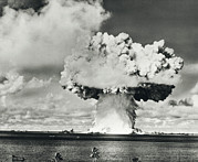 A-bomb Photos - Mushroom Cloud Of Water And Radioactive Material by Us National Archives