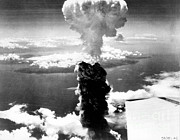 Atom Bomb Prints - Mushroom Cloud Over Nagasaki Print by Science Source