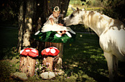 White Unicorn Photos - Mushroom Fairy by Sarah Smith