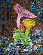 Trippy Paintings - Mushroom Frog by Michael Koerber