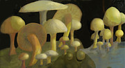 Agriculture Mixed Media Posters - Mushrooms Poster by Ian  MacDonald