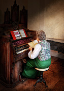 Gospel Photo Posters - Music - Organist - The lord is my shepherd  Poster by Mike Savad