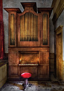 Player Framed Prints - Music - Organist - What a big organ you have  Framed Print by Mike Savad