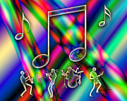 Chromatic Metal Prints - Music Metal Print by Anthony Caruso