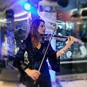 Music Art - #music At The #mall #violin #música by Idrialis Castillo