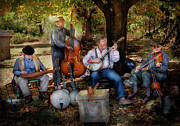Bluegrass Prints - Music Band - The bands back together again  Print by Mike Savad