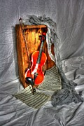 Violin Digital Art - Music Box by Dan Stone