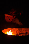 Outdoor Photos - Music by the campfire. by Matthew Smtih