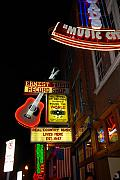 Live Music Framed Prints - Music City Nashville Framed Print by Susanne Van Hulst