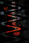 Abstract Hearts Digital Art - Music Dream by Linda Sannuti