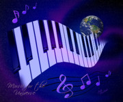 Notes Digital Art - Music for the Universe by Judi Quelland
