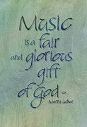 Author Prints - Music Gift Print by Judy Dodds