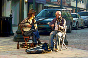 Street Musicians Prints - Music in the Air Print by Suzanne Gaff