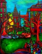 San Antonio Paintings - Music in the Park by Patti Schermerhorn