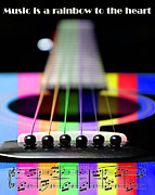 Coil Posters - Music Is A Rainbow To The Heart Poster by Andee Photography