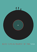 Vinyl Posters - Music is an outburst of the soul Poster Poster by Irina  March