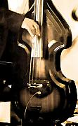 Quartet Art - Music Man Bass Violin by Linda  Parker