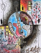 Abstract Landscape Reliefs - Music my weapon by Nyuyse Damien