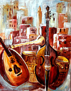 Moroccan Painting Framed Prints - Music of Morocco Framed Print by Patricia Rachidi
