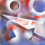 Spray Painting Originals - Music of the Spheres by Hakon Soreide