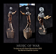 Mohammad Sculptures - Music of war by MBL Binlamin