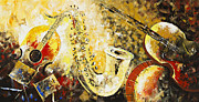 Photographs Painting Originals - Music Ornaments 2 by Madhav Singh