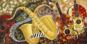 Still Life Photographs Painting Posters - Music Ornaments 4 Poster by Madhav Singh